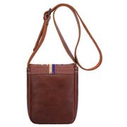 Womens Real Leather Cross Body Sling Bag Shoulder Pouch Rick Brown Back