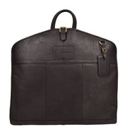 Luxury Leather Suit Carrier Bag Dress Garment Cover Finley Brown Front