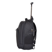 Wheeled Backpack Cabin Hand Luggage Travel Bag Hiking Rucksack Jenkins Black Side