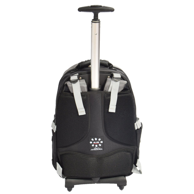 Wheeled Backpack Small Cabin Hiking Camping Travel Bag Fuji Grey Back 2