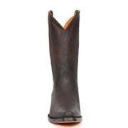Real Leather Pointed Toe Cowboy Boots ALBH57 Brown Front