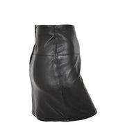 Womens Leather Mini Skirt Ivy Black side