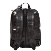 Womens Backpack Black Real Leather Large Travel Rucksack Cora Back