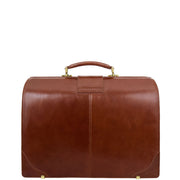 Exclusive Doctors Leather Bag Cognac Italian Briefcase Gladstone Bag Doc Back