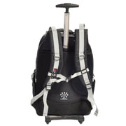Cabin Size Wheeled Backpack Hiking Camping Travel Bag Olympus Grey Back 1
