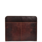 Luxury Leather Ring Binder Folio Document File Case Percy Brown Back