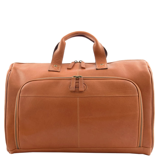 Genuine Leather Holdall Weekend Gym Business Travel Duffle Bag Ohio Tan Without Belt