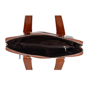 Cross body Italian Leather Bag Tan Casual Flight Bag Exeter Open