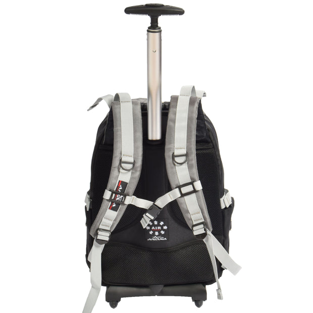 Wheeled Backpack Small Cabin Hiking Camping Travel Bag Fuji Grey Back 1