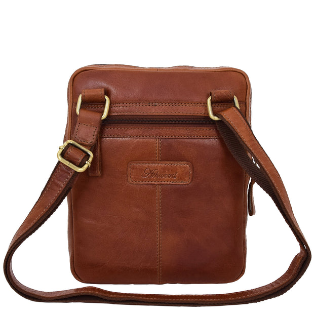 Genuine Leather Cross Body Bag Rugged Vintage Flight Bag Joel Tan Back