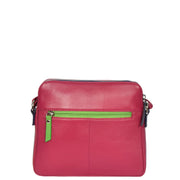 Womens Soft Leather Cross Body BERRY Sling Shoulder Bag Polly Back