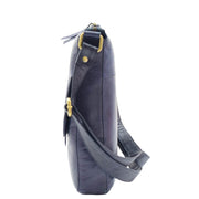 Womens Genuine Soft Vintage Leather Crossbody Messenger Bag Jill Navy 2