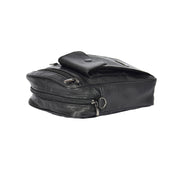 Mens Real Leather Wrist Shoulder Bag Black Small Pouch Earl Letdown