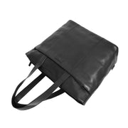 Womens Genuine Black Leather Shoulder Bag Large Tote Day Handbag KAY Letdown