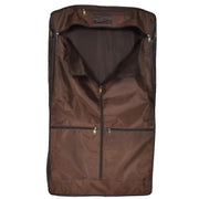 Genuine Luxury Leather Suit Garment Dress Carriers A112 Brown Back Open
