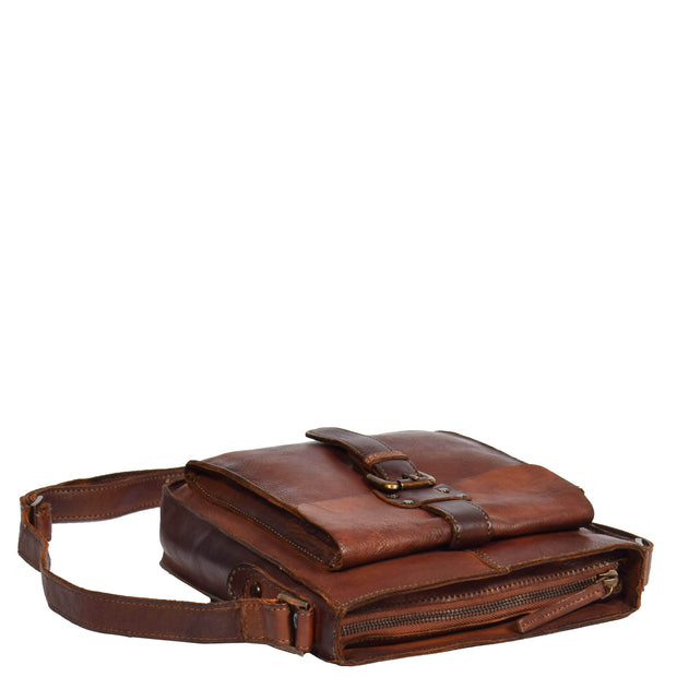 Real Leather Unisex Shoulder Flight Bag Trump Rust Letdown