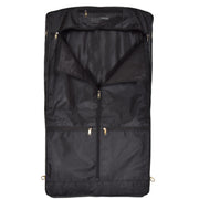 Genuine Luxury Leather Suit Garment Dress Carriers A112 Black Back Open