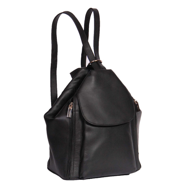 Womens Genuine Black Leather Backpack Walking Bag A57