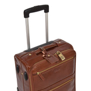 Exclusive Leather Trolley Hand Luggage Cabin Suitcase Concorde Chestnut Feature