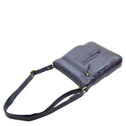 Womens Genuine Soft Vintage Leather Crossbody Messenger Bag Jill Navy 5
