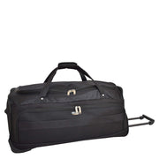 "Travel Duffle Bag 28"" Lightweight Wheeled Holdall Weekend Bag Marco Black 1"