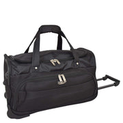 Travel Duffle Bag Lightweight Wheeled Holdall Weekend Cabin Bag Darwin Black 1