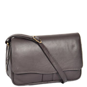 Womens Brown Leather Shoulder Messenger Handbag Ada