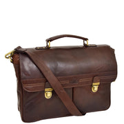 Genuine Leather Briefcase for Mens Business Office Laptop Bag Edgar Brown