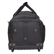 "Travel Duffle Bag 28"" Lightweight Wheeled Holdall Weekend Bag Marco Black 4"