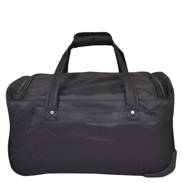 Travel Duffle Bag Lightweight Wheeled Holdall Weekend Cabin Bag Darwin Black 4
