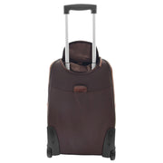 Wheeled Cabin Suitcase Real Brown Leather Luggage Travel Bag Carlos Back With Handle