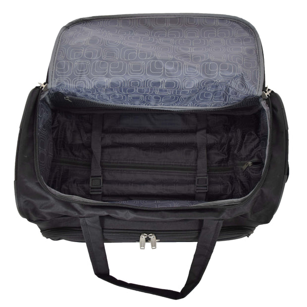 Travel Duffle Bag Lightweight Wheeled Holdall Weekend Cabin Bag Darwin Black 6