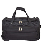 Travel Duffle Bag Lightweight Wheeled Holdall Weekend Cabin Bag Darwin Black 2