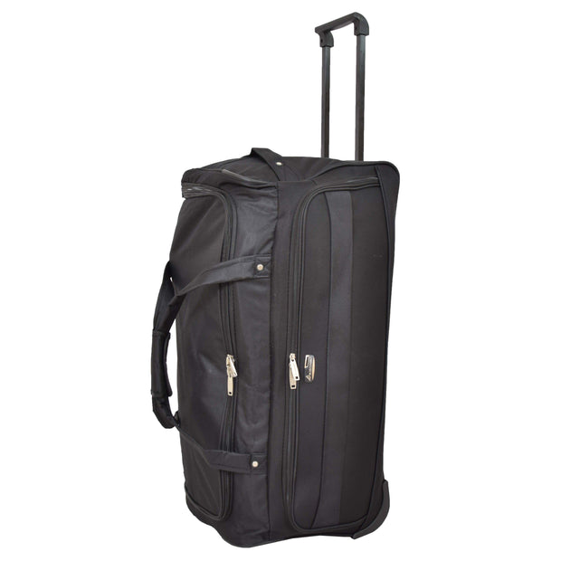 "Travel Duffle Bag 28"" Lightweight Wheeled Holdall Weekend Bag Marco Black 6"