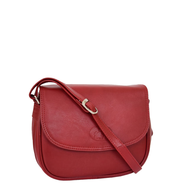 Womens Real Soft Leather Shoulder Bag Casual Cross Body Handbag Jazz Red