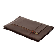 Real Leather Folio Tablet A4 Document Underarm Bailiff Bag A26 Brown Letdown