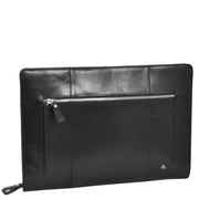 Real Leather Folio Tablet A4 Document Underarm Bailiff Bag A26 Black