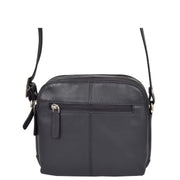 Womens Real Leather Cross Body Sling Shoulder Bag A939 Navy Back