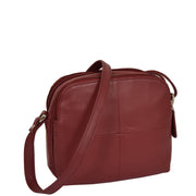 Womens Real Leather Cross Body Sling Shoulder Bag A939 Red