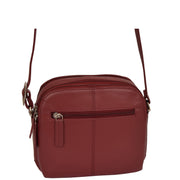 Womens Real Leather Cross Body Sling Shoulder Bag A939 Red Back