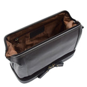 Real Brown Leather Toiletry Wash Bag Cosmetic Shaving Kit Travel Pouch Neil 4