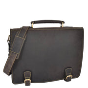 Real Leather Vintage Brown Briefcase Laptop Shoulder Bag A134