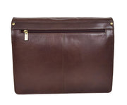 Mens Cross Body Leather Latest Messenger Bag DuJon Brown Back