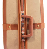 Medium 4 Wheels Classic Trunk Style Lightweight Suitcase ASB603 Brown Feature 1