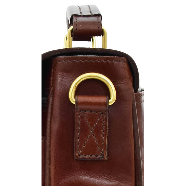 Luxurious Leather Briefcase Classy Business Laptop Bag Buddy Brown Feature 2
