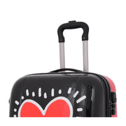 Tough Hard Shell Suitcase Big Heart 4 Wheel Luggage TSA Lock Bags Feature 2