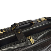 Genuine Leather Garment Dress Suit Carrier A1236 Black Feature