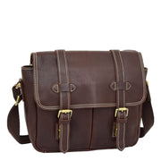 Real Leather Cross Body Shoulder Bag Multi Use Camera Organiser Bussell Brown Feature 1