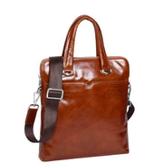 Cross body Italian Leather Bag Tan Casual Flight Bag Exeter