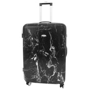 Hard shell Four Wheels Luggage Travel Suitcase AS682 Black Large 1